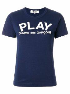 Comme Des Garçons Play slim fit logo T-shirt - Blue