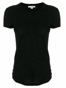 James Perse sheer slub crew neck tee - Black