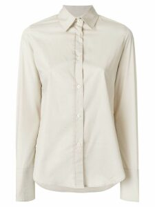 Romeo Gigli Pre-Owned wide cuffs shirt - Neutrals