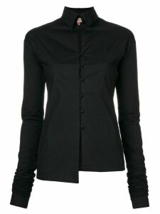 Romeo Gigli Pre-Owned elongated sleeves shirt - Black