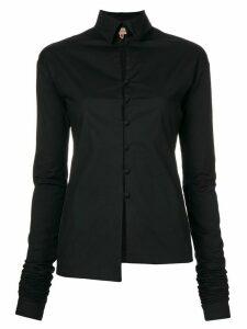 Romeo Gigli Pre-Owned elongated sleeves shirt - Black