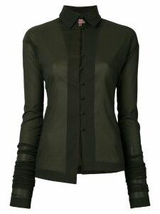 Romeo Gigli Pre-Owned elongated sleeves shirt - Green