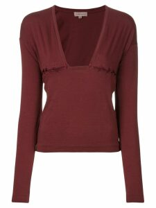 Romeo Gigli Pre-Owned lace-up detail blouse - Red