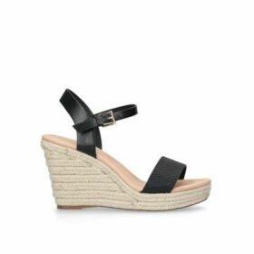 Miss KG Paulina - Black Espadrille Wedge Sandals