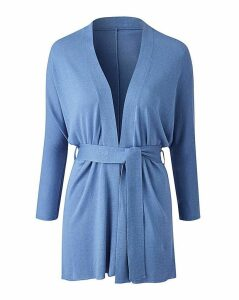 Linen Mix Belted Cardigan