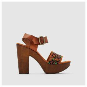 High-Heeled Platform Sole Sandals
