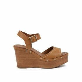 Edelys Leather Wedge Sandals