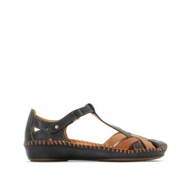 P. Vallarta Leather Sandals