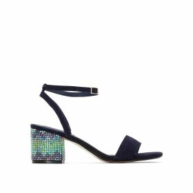 Marble High Heeled Ankle Strap Sandals