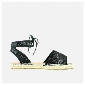 Espadrille Style Flat Sandals