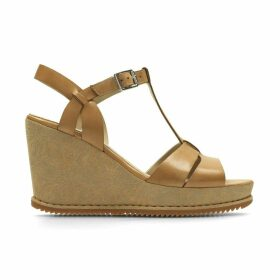 Adesha River Leather Wedge Sandals