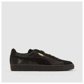 Suede Gold Trainers