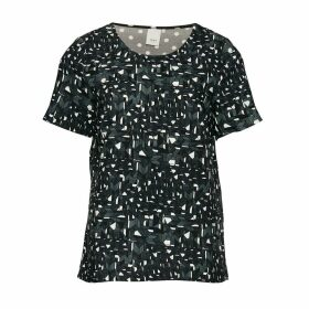 TEASER SS Printed Short-Sleeved Round Neck Blouse