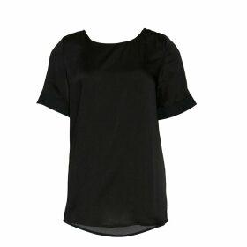 COMON Short-Sleeved Satin Look Blouse