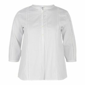 Loose Fit Boyfriend Blouse with 3/4 Length Sleeves