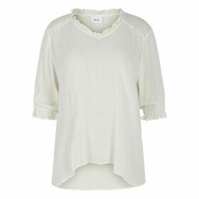 Loose Fit Boyfriend Tunic with 3/4 Length Sleeves