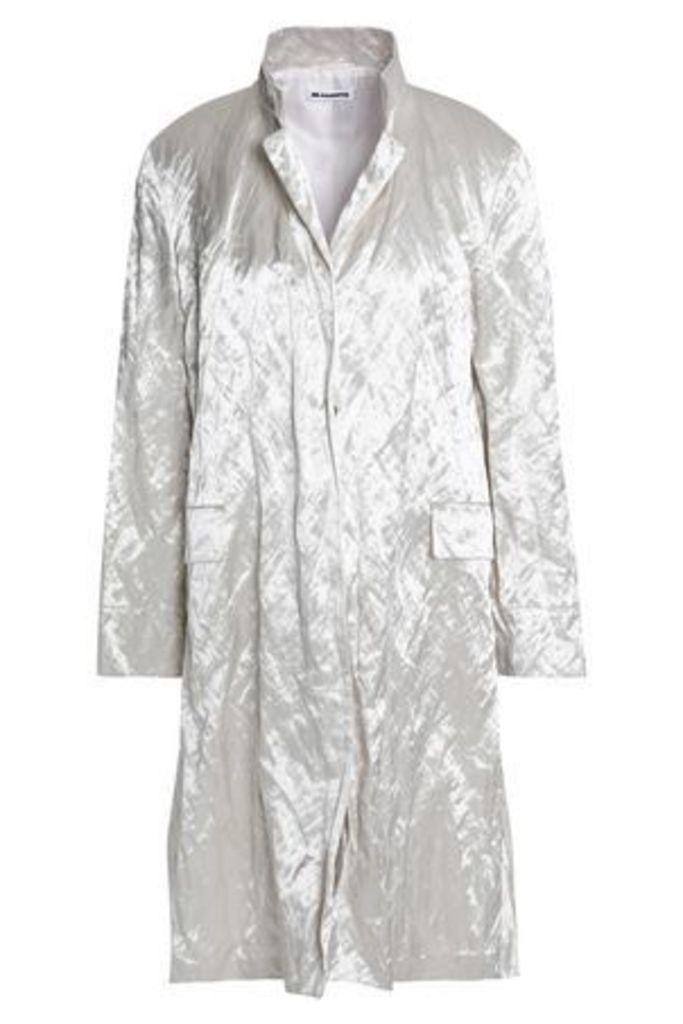 Jil Sander Woman Crinkled-taffeta Jacket Off-white Size 38