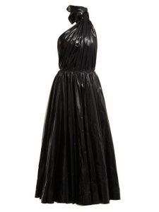 Calvin Klein - Tie-neck Nylon A-line Dress - Womens - Black