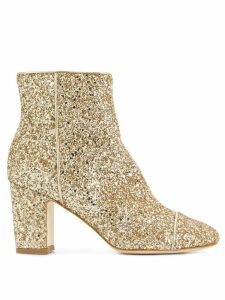 Polly Plume Ally sequin boots - Metallic