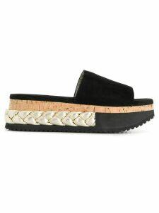 Agl braided platform slippers - Black