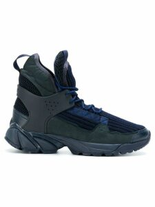 UNDERCOVER ribbed hi-top sneakers - Blue