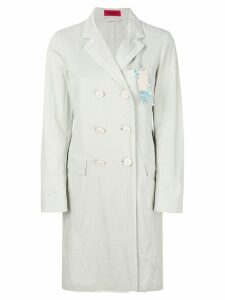 The Gigi double breasted straight coat - White