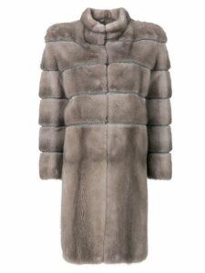 Liska padded fur coat - Grey