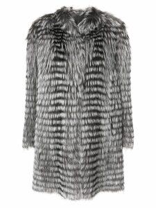 Liska long-sleeve coat - Neutrals