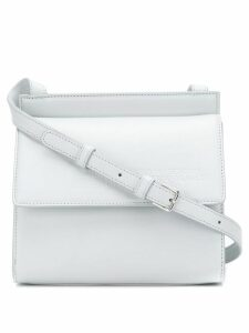 Calvin Klein 205W39nyc embossed flap cross-body bag - White