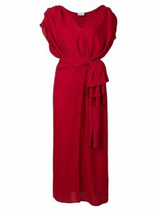 Magda Butrym tie waist Diablo wrap dress - Red
