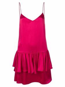 Stella McCartney sweetheart sleeveless ruffle dress - PINK