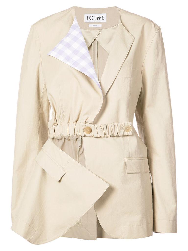 Loewe asymmetric patchwork jacket - Grey