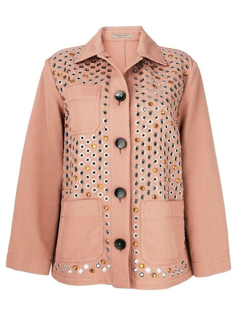 Bottega Veneta embellished jacket - Pink & Purple