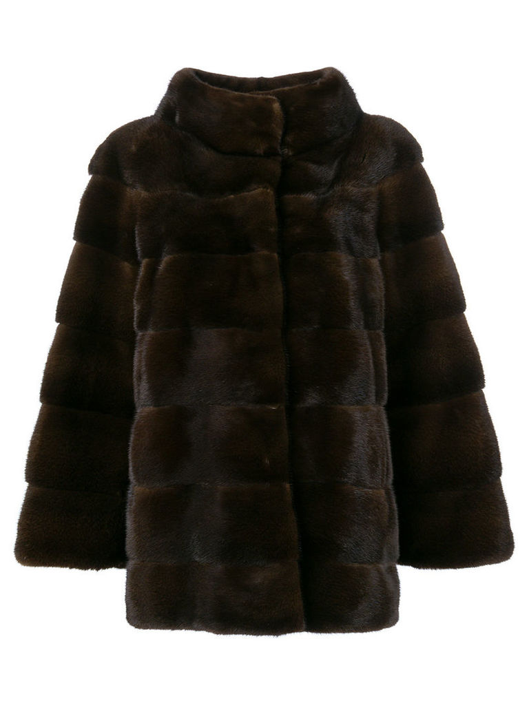Liska padded fur jacket - Brown