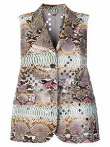 Salvatore Ferragamo fitted waistcoat - Multicolour