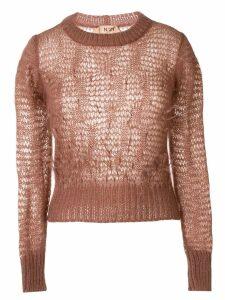 Nº21 loose weave longsleeved sweater - Pink