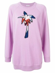 Tomas Maier palm tree embroidered sweater - Pink