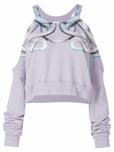 Marcelo Burlon County Of Milan Snake cut-detail sweatshirt - Pink