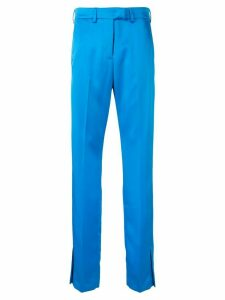 MSGM side vent trousers - Blue