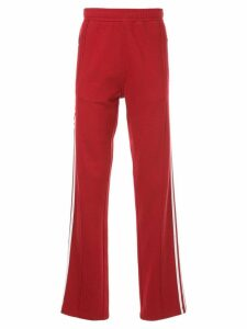 Ports V slogan track trousers - Red