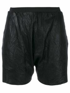 Olsthoorn Vanderwilt creased leather shorts - Black