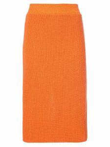 Calvin Klein 205W39nyc ribbed skirt - Yellow