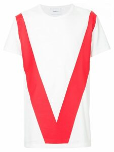 Ports V colour-block T-shirt - White