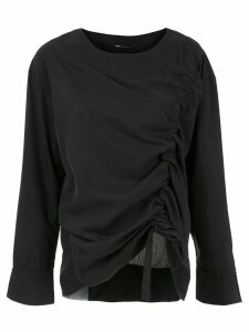 Uma Raquel Davidowicz draped Chef blouse - Black