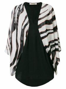 Roberto Cavalli contrast long-sleeve blouse - Black