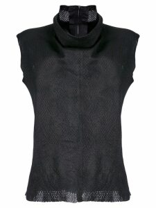 Vanderwilt funnel neck sleeveless blouse - Black