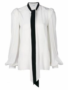 Givenchy lavalliere collar blouse - White