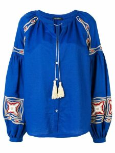 Wandering tassel detail blouse - Blue