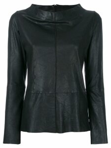 Vanderwilt boat neck longsleeved blouse - Black