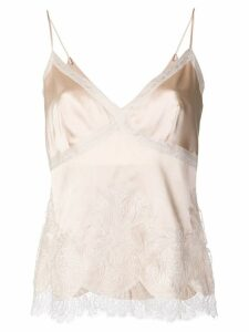 Ermanno Scervino embroidered top - NEUTRALS